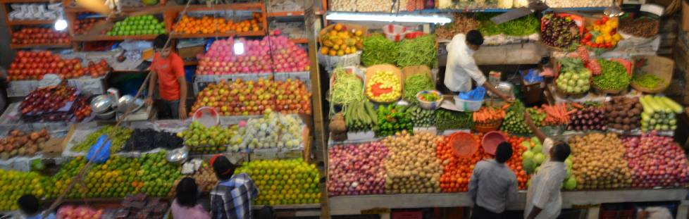 Gemuese Markt in Indien